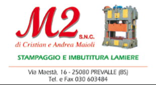logo M2 stampaggio