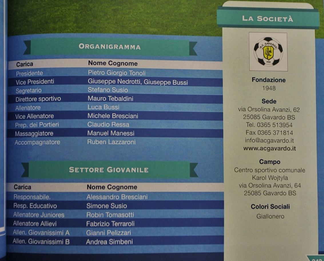ANNUARIO 2015-16 Giornale Brescia 3
