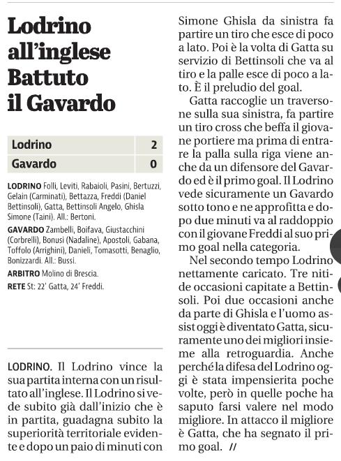 Lodrino art Giornale di Brescia