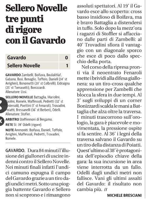 Sellero Giornale di Brescia