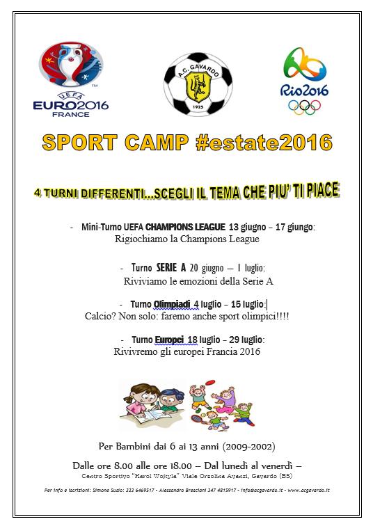 Calcio CAMP 2016 volantino