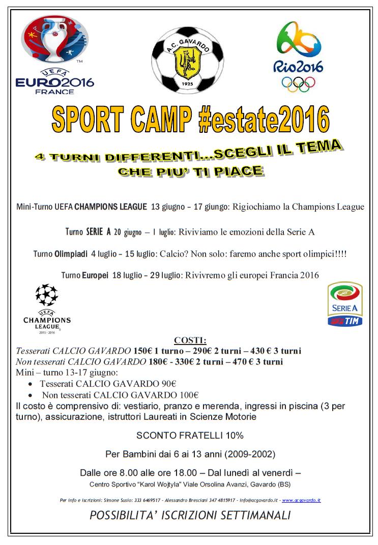 camp 2016 ac Gavardo